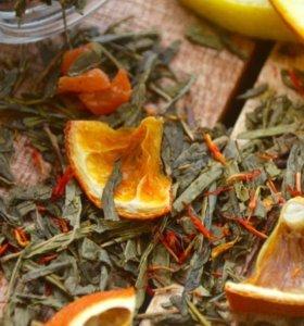 Зелёный чай с апельсином