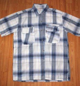 Рубашка с коротким рукавом мужская 52-54