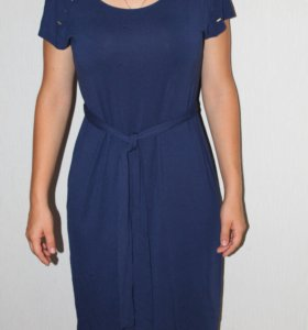 Трикотажное платье р. 46
