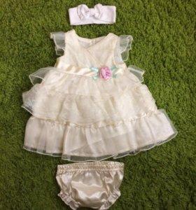 Платье 3/6 месяцев