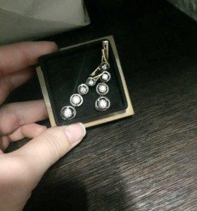 Серьги бриллиантов