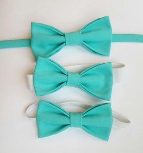 Бабочка-галстук мятного цвета