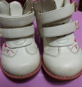Осение ботиночки на девочку