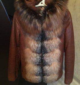 Женская кожаная куртка Yitesen