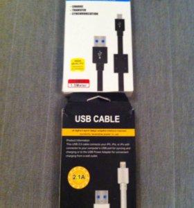 Зарядные кабели Iphone 4,4S,5,5S,6,6S,Micro USB