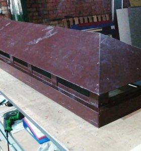 Оголовок дымохода 420*2500*75 коричневый RAL8017.