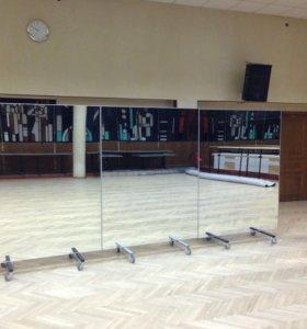 Зеркало на колёсиках для танца