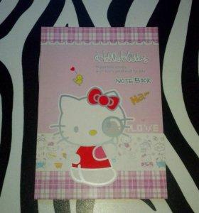 Блокнот с яркими страницами Hello Kitty розовый