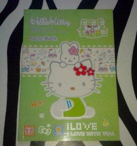 Блокнот с яркими страницами Hello Kitty салатовый