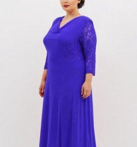 Вечернее платье цвет василек