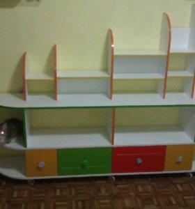Стелаж для игрушек -размер 2000*350(200)*1400. Пол