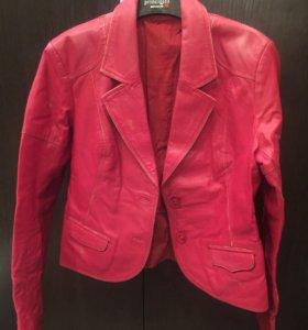 Пиджак кожаный 46 р