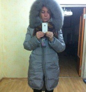 Зимний пуховик длинный