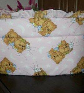 Бортики на кроватку с балдахином