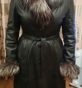 Пальто натуральная кожа 52-54