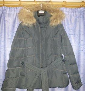 Женская куртка пуховик новая рр 44
