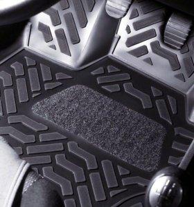 Автомобильные коврики 3D с подпятником