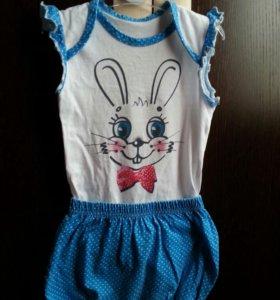 Боди и шорты (комплект) на девочку 80 размер
