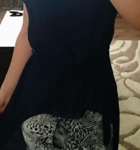 Платье с шифоновой накидкой