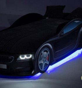 Кровать-машина БМВ черный