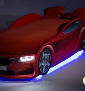 Кровать-машина БМВ красный