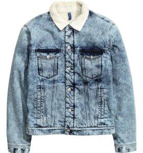 Куртка джинсовая с плюшевой подкладкой