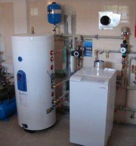 Монтаж системы отопления , водо снабжения