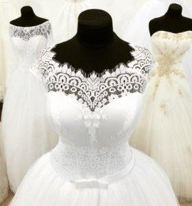 Новое кружевное свадебное платье
