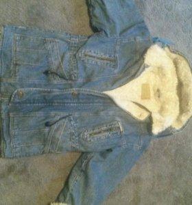 Куртка зимняя джинсовая