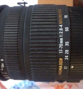 Sigma 17-70 mm f/2.8-4.0 DC Macro OS HSM для nikon