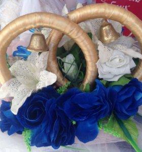 Свадебное оформление на авто с кольцами