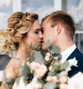 Свадебный, вечерний макияж и причёска