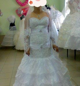 Свадебное платье рыбка-русалка