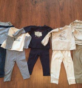 Комплекты штанишки с лонгами и джинсы со свитером