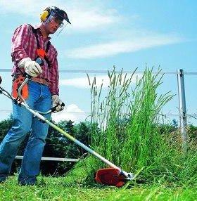 Покос травы триммером по городу и району.