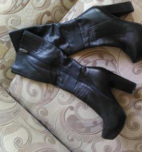 Сапоги кожаные