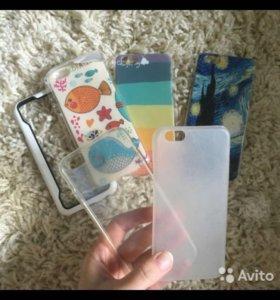 Чехлы для iPhone 6 6s новые и бу, цена за все