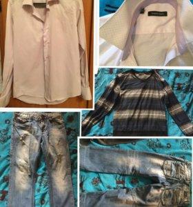 Мужская одежда в хорошем состоянии ( S, M)
