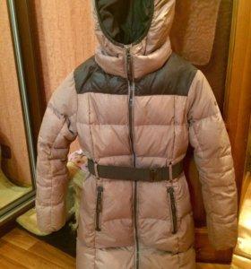 Зимнее теплое пуховое пальто