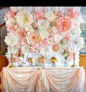 Большие цветы для оформления!!!!