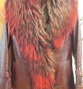 Куртка из натуральной кожи,на подкладке кролик
