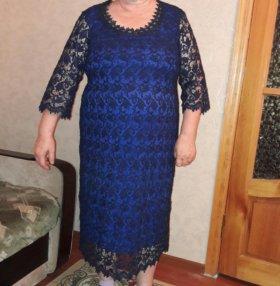 гипюровое платье 54-56