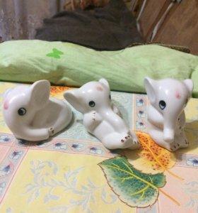 """Фарфоровый набор """"Слоны"""""""