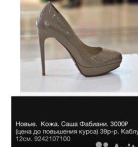 Новые туфли Sasha Fabian