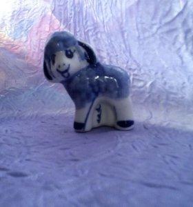 Овца-гжель