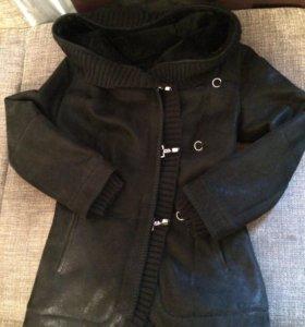Дублёнка женская размер XS, цвет черный