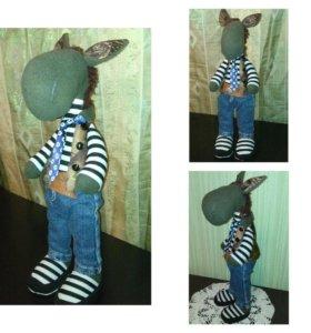 Лошадка Тильда в джинсах