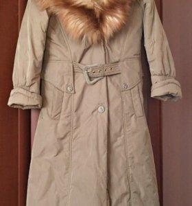 Пальто с натуральной лисой