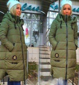 Тёплое удлиненное пальто