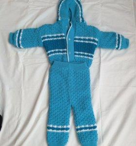 Вязаный костюм на мальчика